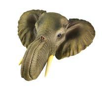 African Elephant Head Mount Wall Statue Mini Bust 9 In