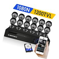 DEFEWAY 16 Channel 720P AHD DVR Security System with 2TB