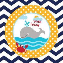 Creative Converting 18 Count Ahoy Matey Ahoy Baby Beverage