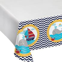 Ahoy Matey Baby Shower Plastic Tablecloth