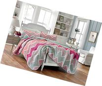 Laura Ashley Ainsley Cotton Quilt, King, Pink