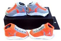 Nike Air Jordan Infant Baby Boys Booties Lava Size: 0-6 M
