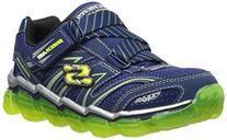 Skechers Kids 95104L Boys Air Sneaker,Navy/Lime,4 M US Big