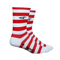 DeFeet Aireator - Hi Top 5in Socks Stripers/White/Red, L