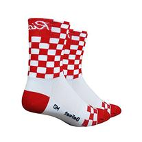 DeFeet AirEator HiTop Checkmate Ride Cycling/Running Socks