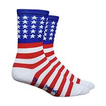 "Defeet Aireator USA with Stars and Bars 5"" Cuff Socks"
