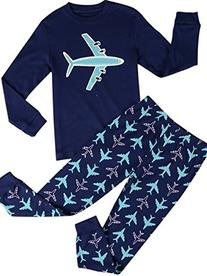 Babypajama Airplane Little Boys' Cartoon Pattern Long Sleeve
