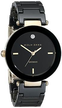 Anne Klein Women's AK/1018BKBK Black Ceramic Bracelet Watch