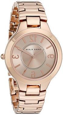 Anne Klein Women's AK/1450RGRG Rose Gold Tone Bracelet Watch