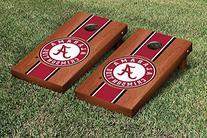 Alabama Crimson Tide Cornhole Game Set Rosewood Stained