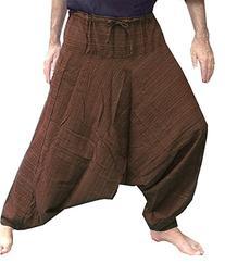 Aladdin Hill Tribe Harem Pants Yoga Trouser Jump Waist