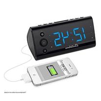 Magnasonic Alarm Clock Radio with USB Charging for