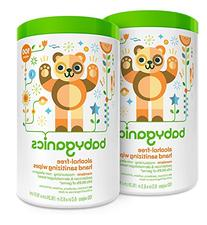 Babyganics Alcohol Free Hand Sanitizer Wipes, Mandarin, 100