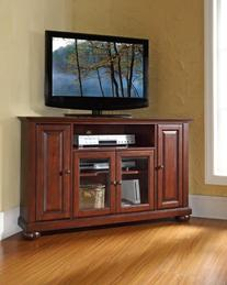 Crosley Furniture Alexandria 48-Inch Corner TV Stand,