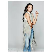 GUESS by Marciano Aliana Suede Fringe Vest