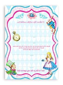 Alice In Wonderland Classic LARGE Invitations - 10