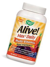 Nature's Way Alive Max Potency Multi-Vitamin Tablets, 180