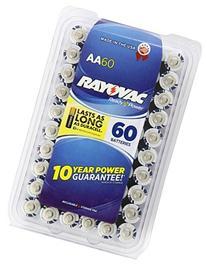 Rayovac Alkaline AA Batteries, 60 batteries by Rayovac