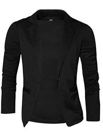 Allegra K Men Notched Lapel Long Sleeve Single Button