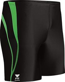 Boys' Alliance Durafast Splice Square Leg Swim Suit,Black/