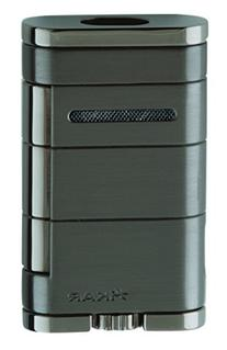 Xikar 9684GM Allume Double Jet Flame Lighter, Gun Metal
