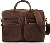 LEABAGS Dallas genuine buffalo leather briefcase in vintage
