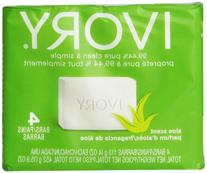 Ivory Aloe 4-Count: Bath Size Bars