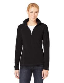 White Sierra Women's Alpha Beta Quarter Zip Fleece, Black,