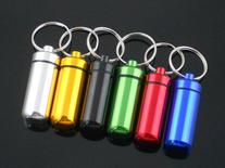 EWIN 10pcs Aluminum Pill Box Case Bottle Holder Container