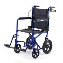 "Aluminum Transport Wheel Chair with 12"" Rear Wheels Color:"