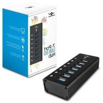 Vantec Aluminum 7-Port USB 3.0 Hub with Power Adapter