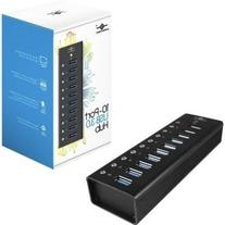 Vantec Aluminum 10-Port USB 3.0 Hub with Power Adapter