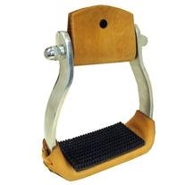 Intrepid International Aluminum Western Stirrups with Rubber