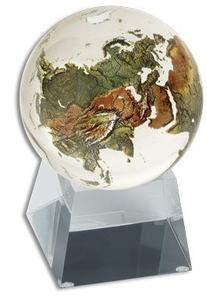 Amazing Crystal Globe - Clear Crystal Sphere with Natural