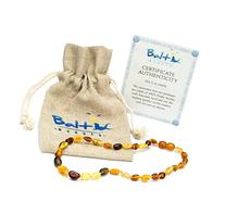 Amber Teething Necklace for Babies  - Anti Flammatory,