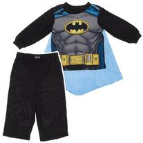 Batman Toddler Black Costume Pajamas with Cape