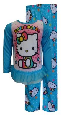 Hello Kitty Little Girls'  2-Piece Sleep Set, Blue, 6
