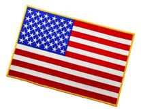 Large American Flag Embroidered Patch USA United States of