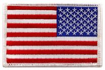 American Flag Embroidered Patch White Border United States