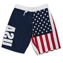 Men's American Flag USA Board Shorts XX-Large Multi