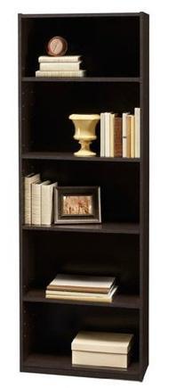 Ameriwood 5-Shelf Bookcase, Espresso