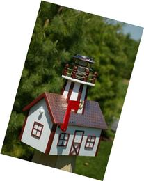 Amish Made Lighthouse Mailbox with Solar Light and Copper
