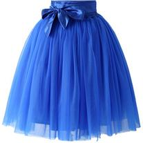 Chicwish Amore Tulle Skirt in Sapphire Blue