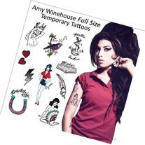 Amy Winehouse Temporary Tattoos  Complete Set
