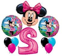 Minnie Mouse #2 2nd Second Happy Birthday Balloon Party Set