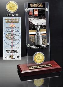 Anaheim Ducks Stanley Cup Champions Ticket And Bronze