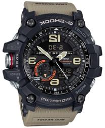 G-Shock Men's Analog-Digital Mudmaster Twin Sensor Khaki