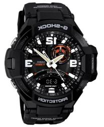 G-Shock Men's Analog-Digital Black Resin Strap Watch 51x52mm