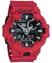 G-Shock Men's Analog-Digital Red Resin Strap Watch 53x58mm
