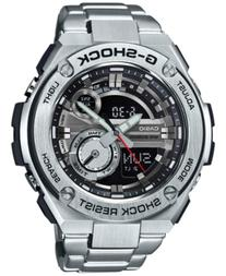 G-Shock Men's Analog-Digital Silver-Tone Stainless Steel